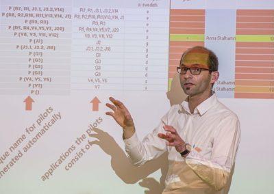 Prof. Dr.-Ing. Lars Oelschläger (Jade Hochschule) erklärt die unterschiedlichen entwickelten Apps des ITRACT-Projektes