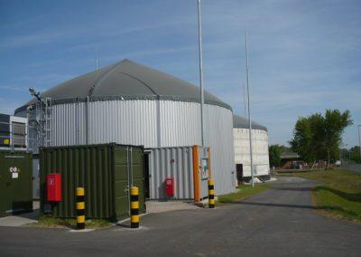 Der Gasspeicher einer Biogasanlage
