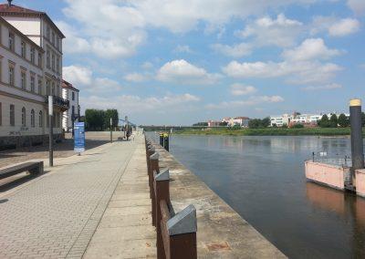 Die Oder in Frankfurt (Oder)