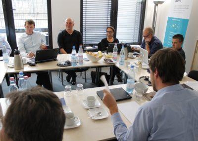 Eine Besprechung des Projekts BIC-IRAP im Berliner Büro