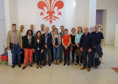 Teilnehmer des Kick-OFF-Meetings für das Projekt REBUS in Florenz, Italien