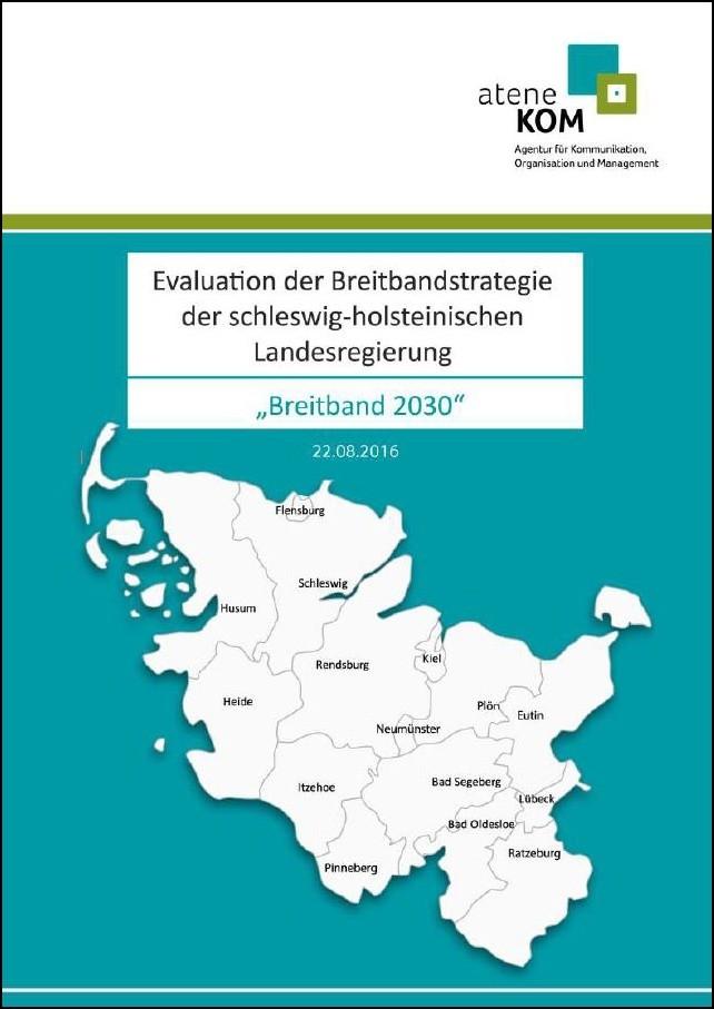 """Titelbild der Studie """"Evaluation der Breitbandstrategie der schleswig-holsteinischen Landesregierung"""""""