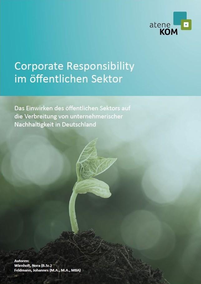 """Titelblatt der Studie """"Corporate Social Responsibility im öffentlichen Sektor"""""""