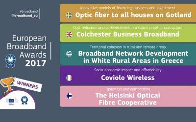 Winners of the European Broadband Awards 2017