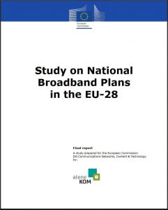 Title picture - Study on National Broadband Plans in the EU-28
