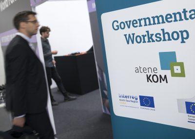 Besucher kommen am 24.10.2017 in Berlin beim Governmental Workshop im Rahmen des Broadband World Forums 2017 an. Foto: atene KOM GmbH / Florian Schuh