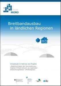"""Titelbild der Studie """"Breitbandausbau in ländlichen Regionen"""""""