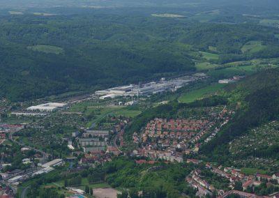 Blick auf das Opelwerk in Eisenach