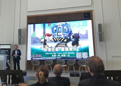 Dr. Boris Nikolai Konrad (Hirnforscher und Neurowissenschaftler am Donders Centre for Cognitive Neuroimaging in Nijmegen, Niederlande) bei seiner Keynote auf dem Mittelstand-Digital Kongress im Bundesministerium für Wirtschaft und Energie. Berlin, 07. November 2018