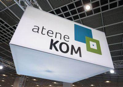 Der Stand von atene KOM ist am 20.11.2018 auf der Hypermotion in Frankfurt zu sehen.