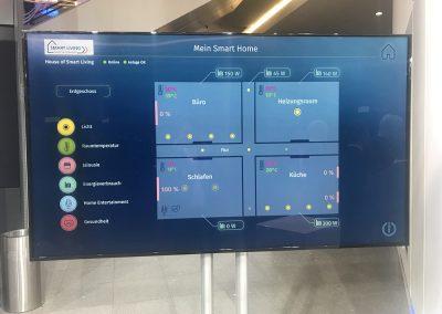Im Ausstellerbereich wurden unter anderem Smart Living-Anwendungen vorgestellt. Digital-Gipfel 2018, Nürnberg, 3. und 4. Dezember 2018.