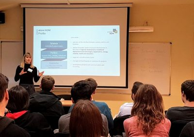 Project Manager Nele Meyer introduces atene KOM at the EPIC Project Planning Seminar in Barcelona, 11 - 15 February 2019