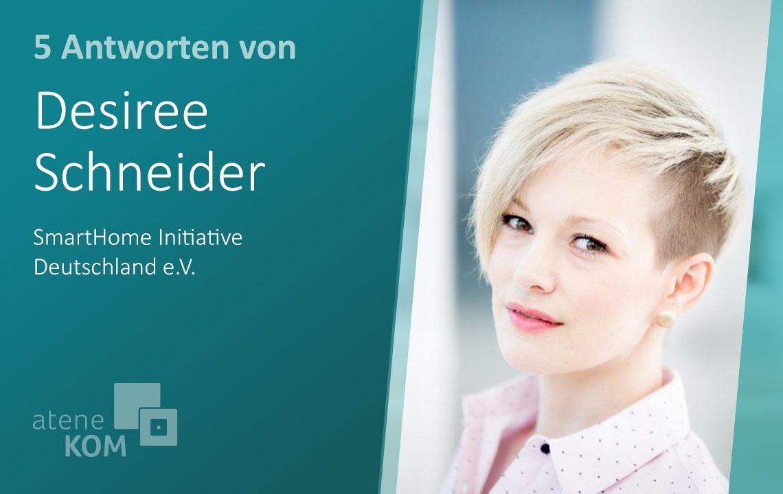 """Desiree Schneider, SmartHome Initiative: """"Sprache könnte zur vorrangigen Methode der Steuerung von Smart Home-Lösungen werden"""""""