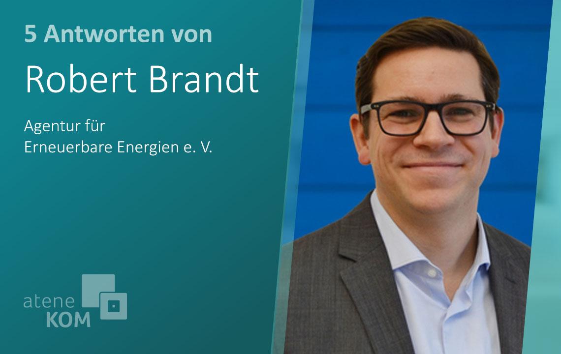 """Robert Brandt, Agentur für Erneuerbare Energien: """"Elektromobilität muss ein ganz großer Baustein des zukünftigen Verkehrs werden"""""""