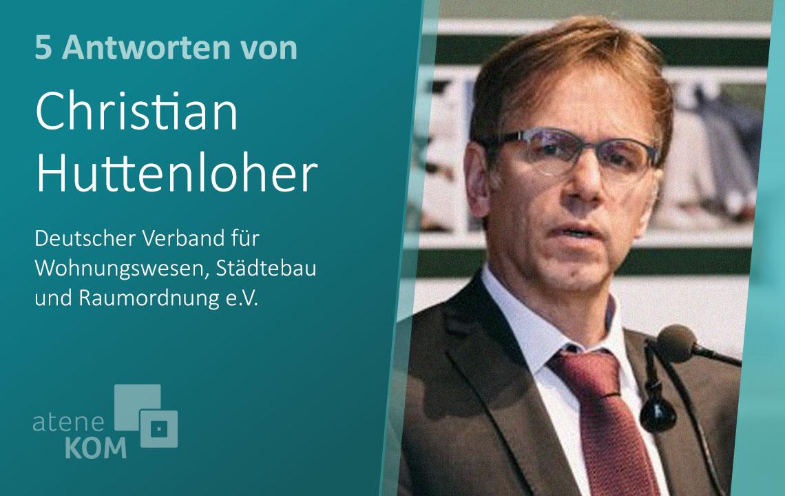 """Christian Huttenloher, DV: """"Ein intensiver Austausch ist essenziell, damit mehr Cities smart werden."""""""
