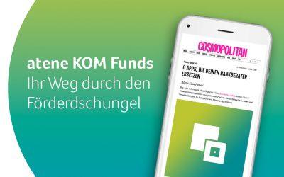 Cosmopolitan: atene KOM Funds ist Deutschlands zweitbeste Finanz-App