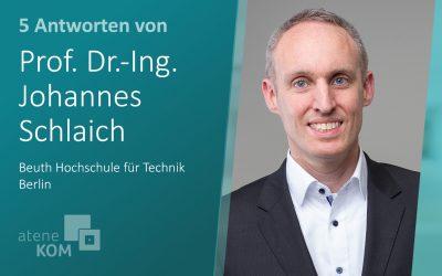 """Prof. Dr.-Ing. Johannes Schlaich, BHT: """"Ein Blick auf viele Smartphones zeigt, dass die Digitalisierung längst beim Konsumenten im Verkehrswesen angekommen ist."""""""