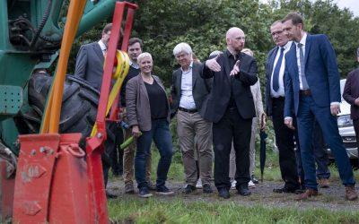 Gigabit-Spatenstich im Wurzener Land mit Sachsens Ministerpräsident Michael Kretschmer