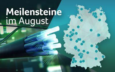 Breitbandausbau im August: BMVI fördert Glasfaserprojekte mit rund 426 Millionen Euro