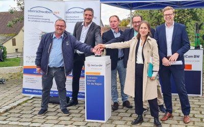 Erste Komplettinbetriebnahme im geförderten Gigabitausbau im Landkreis Ravensburg
