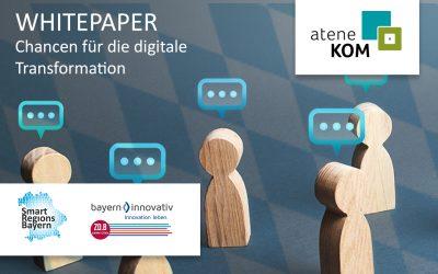 atene KOM verfasst Whitepaper zu Herausforderungen und Chancen für Bayerns Digitale Transformation